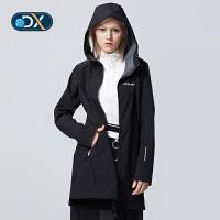 【年货节:351元】Discovery户外软壳衣秋冬新款女式防风保暖冲锋外套风衣