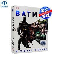 英文原版 DK百科系列 蝙蝠侠前世今生 精装 Batman A Visual History DC超级英雄 儿童英语漫画
