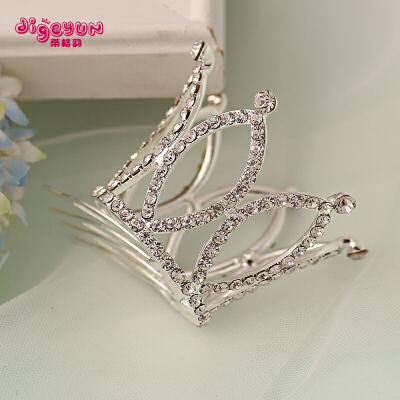 女童公主发夹花童礼服头饰 儿童发饰皇冠发卡发箍王冠