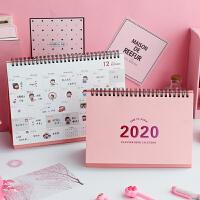 创意少女小清新台历桌面摆件计划本式日历记事本2020