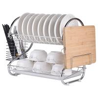 厨房碗碟架置物架淋控水放装碗筷收纳盒箱晾盘子家用洗碗池沥水架