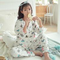 月子服产后外出喂奶怀孕期春秋孕妇睡衣套装两件套夏棉哺乳衣