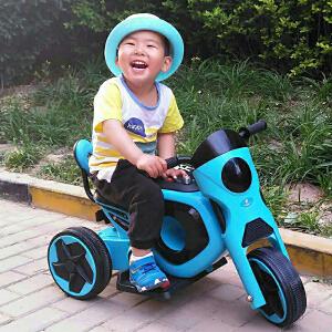 【当当自营】炫梦奇儿童电动摩托车三轮车电动童车电瓶车 可坐音乐闪光 帅蓝色