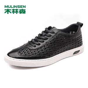 木林森男鞋 男士头层牛皮时尚休闲鞋  05177364