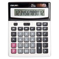 得力1654计算器 太阳能双重电源计算机 大按键计算机 计算器 12位财务计算器