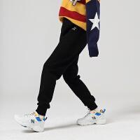 【2件2折 叠券预估价:85.5元】初语休闲裤女显瘦百搭2020新款撞色刺绣黑色直筒哈伦束脚运动裤子
