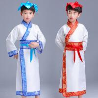 儿童汉服国学服男童三字经弟子规书童演出表演服装男孩中国风古装