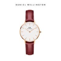 Danielwellington丹尼尔惠灵顿新品红色皮带DW女手表简约时尚女士手表28MM