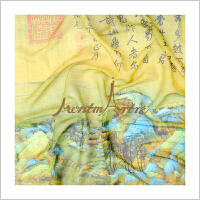 蒙马特大街丝巾千里江山图艺术衍生品母亲节礼品披肩真丝长巾春夏