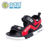 【1件5折�r:104元】大�S蜂童鞋 男童�鲂� �和�沙�┬�2019夏季新款男孩鞋子防滑皮�鲂�