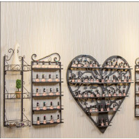 指甲油架子墙壁壁挂铁艺香水展示架化妆品货架美甲展示置物架彩妆