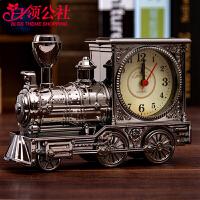 白领公社 生日礼品 生日礼物学生火车模型玩具头闹钟儿童小闹钟 创意学生生日礼物