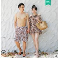 小香风泳衣女情侣性感显瘦遮肚温泉泳装套装分体三件套比基尼
