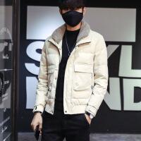 羽绒服男士 短款冬季韩版潮流加厚外套男 修身保暖轻薄羽绒衣服男