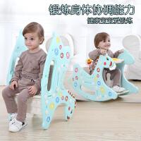 二合一岁宝宝玩具周岁礼物塑料凳子带音乐小木马婴儿童摇摇马餐椅