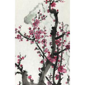 知名画家 关山月 《傲雪凌霜 》67*45cm,纸本软片。品如图。