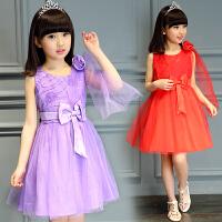 童装夏装新款女童大童连衣裙女夏季纱裙儿童公主裙表演裙子潮