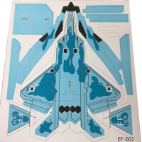 20180510011017166苏27遥控飞机航模配件苏27kt魔术耐摔板空机固定翼拼装滑翔战斗机 空机身