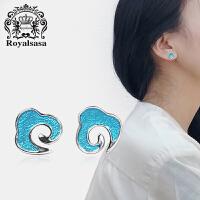 皇家莎莎睡觉不用摘的耳钉女气质韩国个性时尚小耳骨耳饰网红耳环