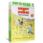 英文原版 汪培�E书单2阶段 Henry and Mudge 亨利和玛吉 Ready to read L2分级阅读6册