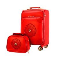 女旅行箱  结婚箱子  陪嫁箱 万向轮拉杆箱子 皮箱  红色行李箱  母箱嫁妆箱