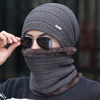 帽子男士冬季保暖毛线帽针织帽时尚套头帽户外护耳帽