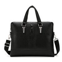 男包手提包男士公文横款商务包包休闲单肩斜挎包电脑皮包