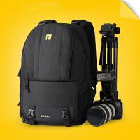 双肩摄影包双肩包单反相机包佳能尼康相机包A23s6 黑色