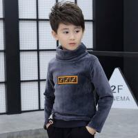 童装男童高领T恤9加绒加厚打底衫中大童保暖儿童上衣男孩秋冬装11 灰色 (F8915)