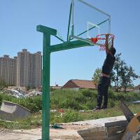 雷赢标准户外篮球架 地埋式篮球架单位家用训练固定式篮球架