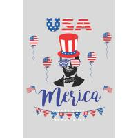 【预订】USA Merica: Abraham Lincoln 4th of July Independence Da