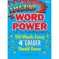 现货4级神奇100个单词书的文字力量 英文原版 Amazing Word Power, Grade 4 美国小学英语学乐