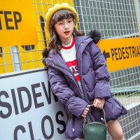 女童羽绒服中长款加厚2018新款冬装韩版洋气中大童儿童装女孩外套