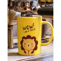 创意潮流陶瓷杯子可爱带盖勺马克杯牛奶早餐咖啡杯女学生韩版水杯