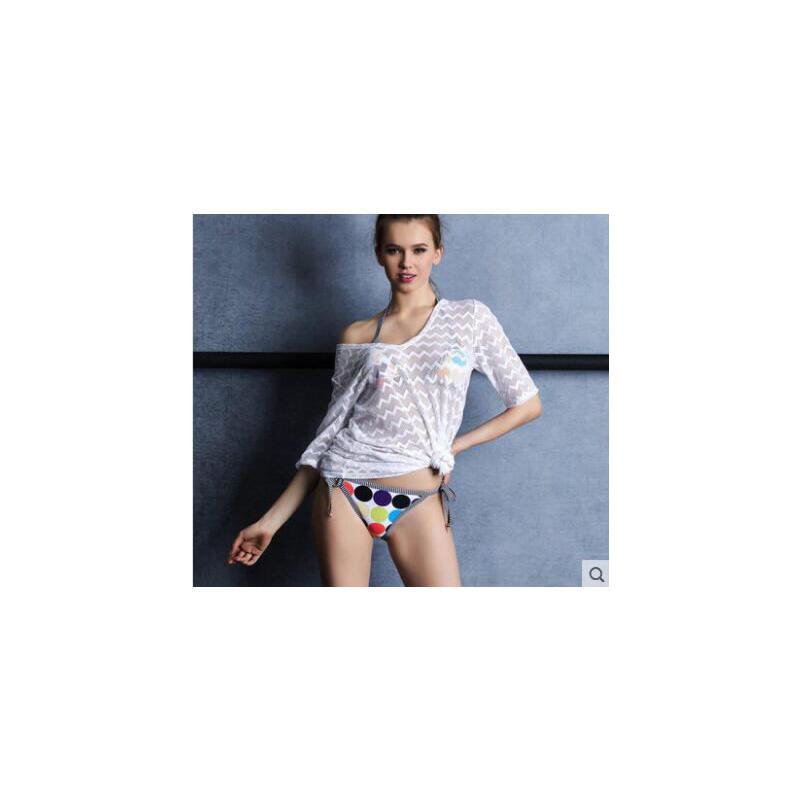 小胸聚拢分体性感泳衣女三件套挂脖比基尼 新款显瘦运动温泉游泳衣女 品质保证 售后无忧 支持货到付款