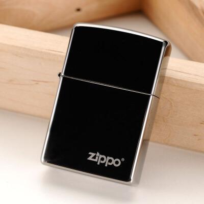 美国芝宝Zippo打火机 黑冰/雕刻/logo  150ZL黑冰商标