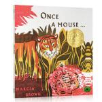 【顺丰速运】英文原版 Once a Mouse 从前有一只老鼠 凯迪克金奖绘本 Marcia Brown经典图画书 美
