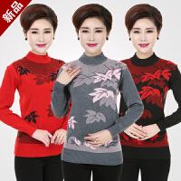 20180326221605129中老年妇女装秋冬装半高领针织衫40-50岁中年人妈妈装毛衣打底衫