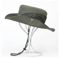 男士帽子夏季 网布透气渔夫帽户外钓鱼大檐素色沙滩遮阳帽 均码