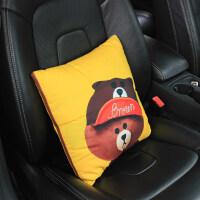 汽车装饰品两用可爱抱枕被子午休折叠空调毛毯创意车载腰靠垫枕头