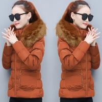女2018新款冬装羽绒棉衣女短款韩版大码修身时尚加厚棉袄外