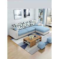 布艺沙发贵妃组合客厅整装现代简约可拆洗小户型转角布沙发三人位o1q