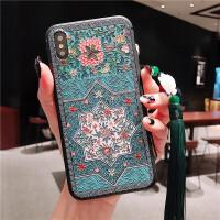 中国风小米苹果6s78plus手机壳vivox21浮雕华为荣耀VmateP10P20pr