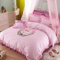 纯棉秋冬儿童卡通四件套贴布绣床品韩版男女童 床上用品套件