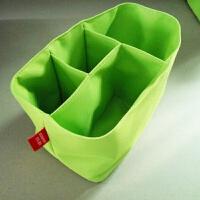妈咪包内胆分格袋分隔包袋中袋加厚牛津布防水收纳包整理袋 绿色中号
