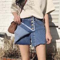 牛仔短裤女韩版学生夏装2018新款chic直筒裤复古百搭防走光裤裙