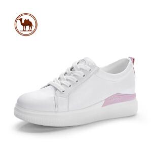 骆驼牌女鞋 春季新款时尚小白鞋韩版女鞋舒适休闲运动跑步鞋板鞋