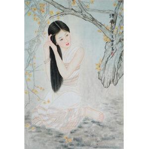 现代画家  杨丽  《清香》