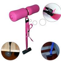 床上仰卧起坐健身器材家用简易减腰腹运动懒人自动瘦肚子辅助器女 玫红色 仰卧标配款0.8米