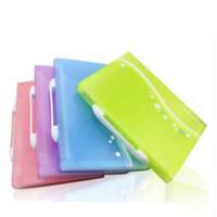 得力 5873 多层包/风琴夹 A4/13格彩色文件袋清新事物包/资料包 颜色随机